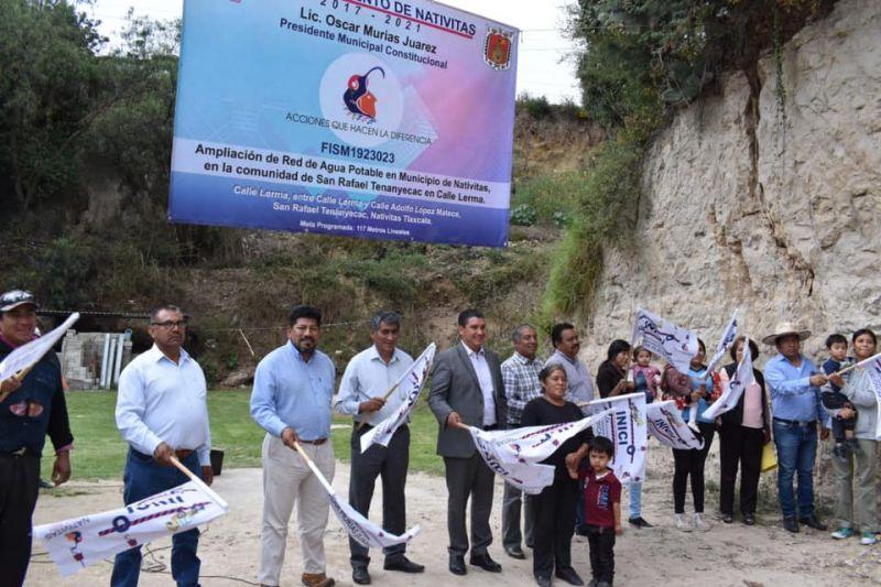 Red de Agua Potable se Implementa en San Rafael Tenanyecac