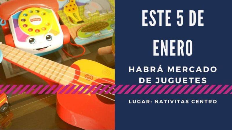 Acude este 5 de Enero al Mercado de Juguetes en Nativitas.