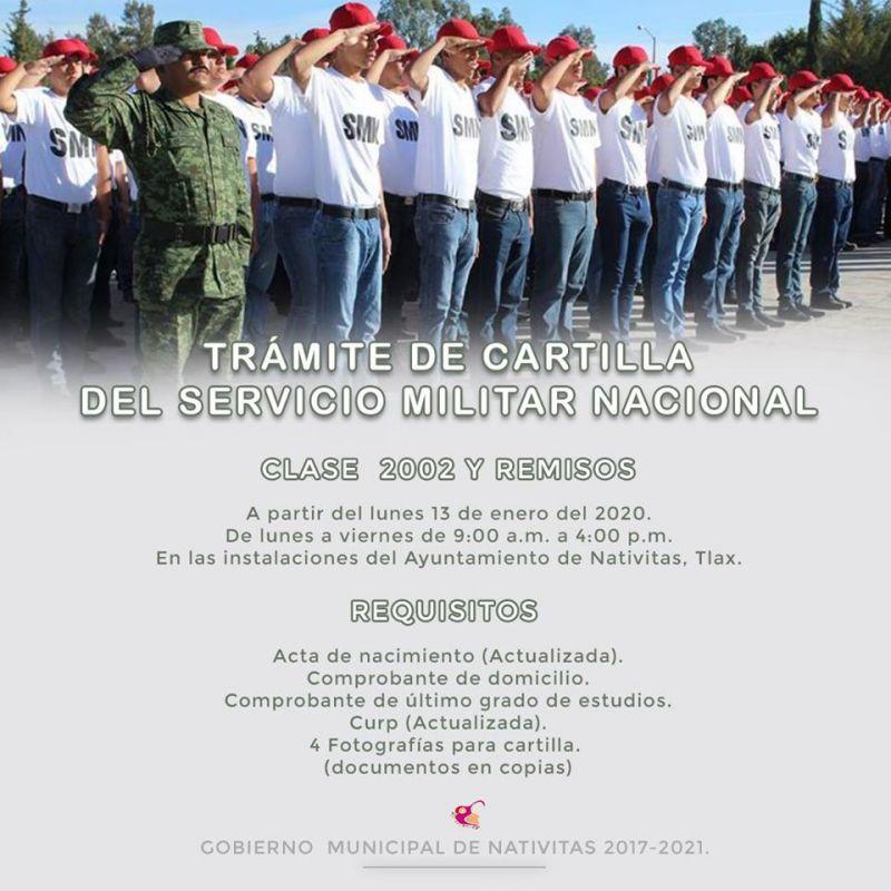 Inicia Convocatoria para Cartilla del Servicio Militar: Clase 2002