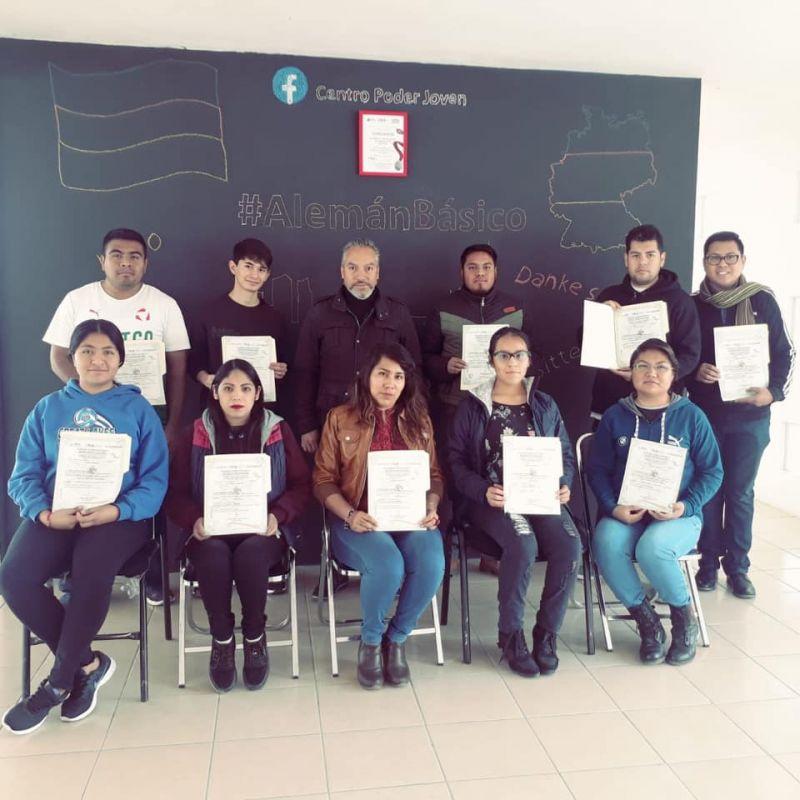 Jóvenes del Municipio Concluyen Nivel Básico del Idioma Alemán