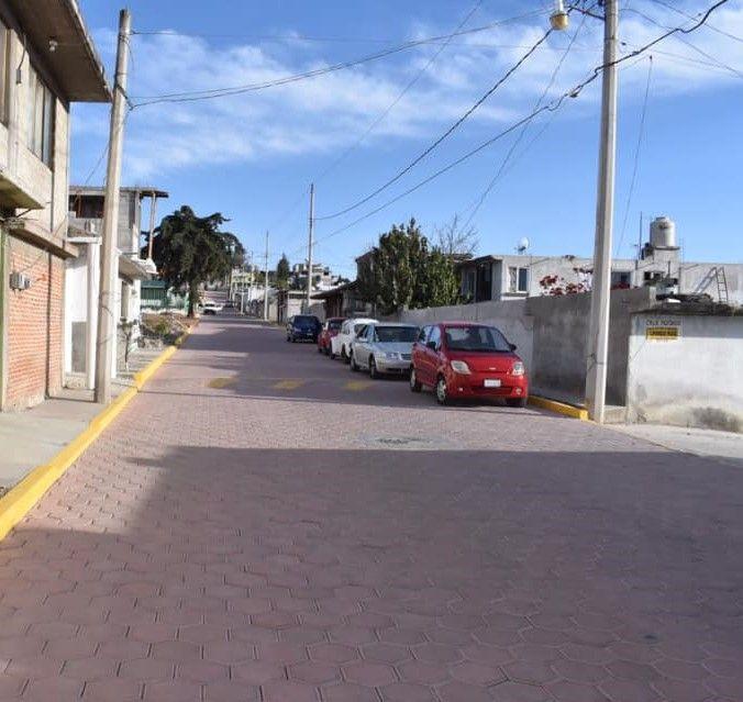 San Vicente Xiloxochitla Beneficiada con Adoquinamiento de Calle